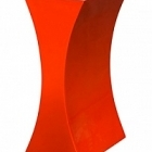 Кашпо Livingreen curvy sophia 1 polished flame red, красного цвета Длина — 26 см
