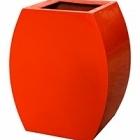 Кашпо Livingreen curvy ursula 1 polished flame red, красного цвета Длина — 51 см