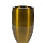 Кашпо Plants First Choice Aluminium planter bubba brown, коричнево-бурого цвета-beige  Диаметр — 49 см