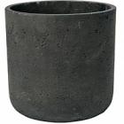 Кашпо Pottery Pots Eco-line charlie S размер black, чёрного цвета washed  Диаметр — 15 см