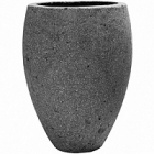 Кашпо Pottery Pots Eco-line mini bond laterite grey, серого цвета  Диаметр — 20 см