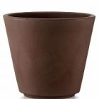 Кашпо TeraPlast Ribeira 80 bronze, бронзового цвета  Диаметр — 77 см