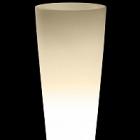 Светящееся Кашпо TeraPlast Schio Cono light outdoor 145 neutral  Диаметр — 55 см