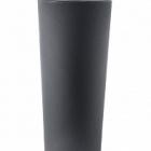 Кашпо TeraPlast Schio Cono 145 anthracite, цвет антрацит  Диаметр — 55 см