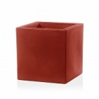 Кашпо TeraPlast Schio Cubo 40 cardinal red, красного цвета Длина — 40 см