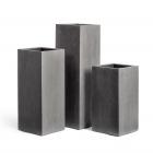 Кашпо Effectory Beton высокий куб : темно-серый