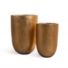Кашпо Effectory Metal высокий конус-чаша:сусальное золото