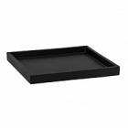 Поддон Pottery Pots Fiberstone saucer block 30, black, чёрного цвета Длина — 33 см  Высота — 4 см
