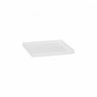 Поддон Pottery Pots Fiberstone saucer block 30, glossy white, белого цвета Длина — 33 см  Высота — 4 см