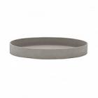 Поддон Pottery Pots Refined gaia S размер clouded grey, серого цвета  Диаметр — 40 см Высота — 5 см