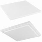 Подставка Fiberstone accessoires glossy white, белого цвета topper L размер (thin) Длина — 40 см  Высота — 25 см