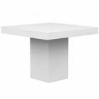 Стол Fiberstone glossy white, белого цвета table M размер Длина — 140 см  Высота — 77 см