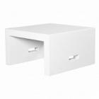 Столик журнальный Fiberstone jan des bouvrie glossy white, белого цвета salontable S размер Длина — 70 см  Высота — 40 см