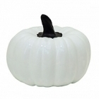 Тыква декоративная Pumpkin glossy white, белого цвета M размер  Диаметр — 42 см Высота — 38 см