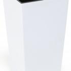 Кашпо Smart Lofty с внутренней вставкой, белое