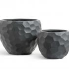 Кашпо Ergo Comb полусфера: темно-серый бетон.
