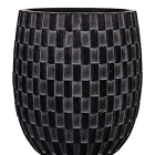 Кашпо Capi nature vase elegant high iii wave black