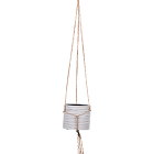 Кашпо Capi nature hanging vase cylinder iii loop ivory