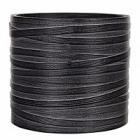 Кашпо Capi Nature vase cylinder 3-й размер loop black, чёрного цвета диаметр - 17 см высота - 17 см