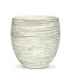 Кашпо Capi Nature Vase Elegant Mini Rib, Ivory