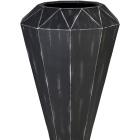 Кашпо Alegria Diamond, серый шлифованный