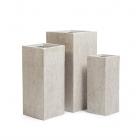 Кашпо Ergo Corc куб высокий, белый песок