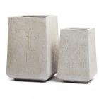 Кашпо Ergo Cork кубическая трапеция, белый песок