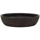 Кашпо Capi nature bowl round rib brown