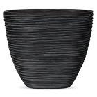Кашпо Capi nature planter oval rib high black