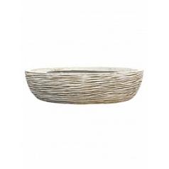 Кашпо Capi Nature bowl round rib 3-й размер ivory, слоновая кость