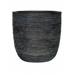 Кашпо Capi Nature egg planter rib 1-й размер black, чёрный