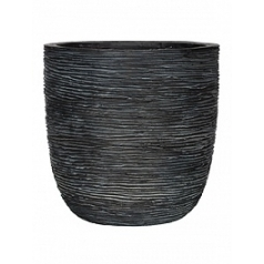 Кашпо Capi Nature egg planter rib 2-й размер black, чёрный