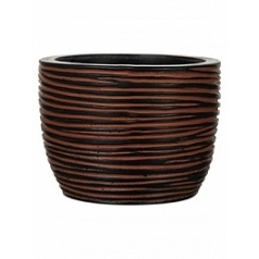 Кашпо Capi Nature egg planter rib 2-й размер brown, коричневый