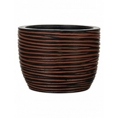 Кашпо Capi Nature egg planter rib 3-й размер brown, коричневый