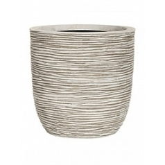Кашпо Capi Nature egg planter rib 3-й размер ivory, слоновая кость