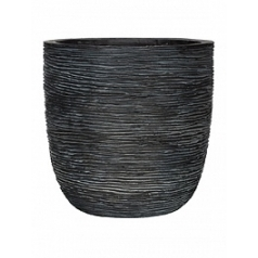 Кашпо Capi Nature egg planter rib 4-й размер black, чёрный