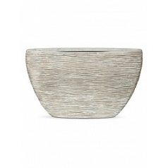 Кашпо Capi Nature planter oval high rib ivory, слоновая кость
