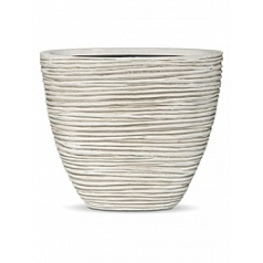Кашпо Capi Nature planter oval m rib high ivory, слоновая кость