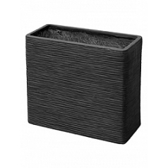 Кашпо Capi Nature planter rectangle 1-й размер black, чёрный