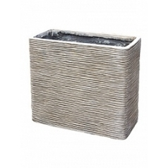Кашпо Capi Nature planter rectangle 1-й размер ivory, слоновая кость