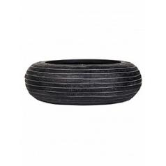 Кашпо Capi Nature row bowl round 1-й размер black, чёрный