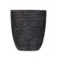 Кашпо Capi Nature row oval planter 3-й размер black, чёрный