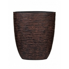 Кашпо Capi Nature row oval planter 3-й размер brown, коричневый
