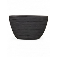 Кашпо Capi Nature row planter oval high 2-й размер anthracite, антрацит