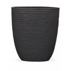 Кашпо Capi Nature row planter oval high ili anthracite, антрацит