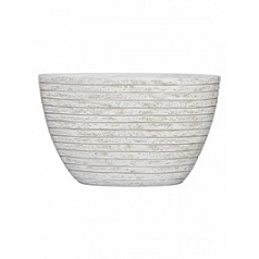 Кашпо Capi Nature row planter oval high ili ivory, слоновая кость