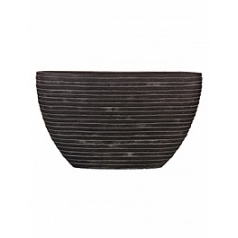 Кашпо Capi Nature row planter oval 1-й размер black, чёрный