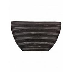 Кашпо Capi Nature row planter oval 1-й размер black, чёрный