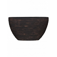 Кашпо Capi Nature row planter oval 1-й размер brown, коричневый