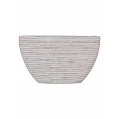 Кашпо Capi Nature row planter oval 1-й размер ivory, слоновая кость